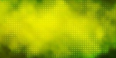 Light Green, Yellow vector background with bubbles.