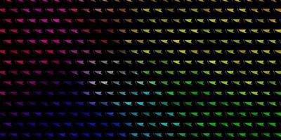 textura de vector multicolor claro con estilo triangular.
