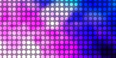 Light Pink, Blue vector backdrop with circles.