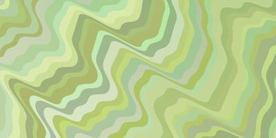 textura de vector verde claro con líneas torcidas