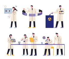 scientist in science laboratory vector