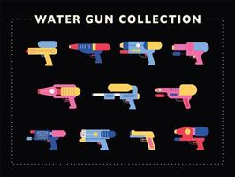 A collection of various water gun designs.
