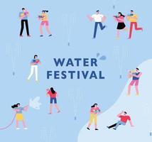 cartel del festival de pistolas de agua.
