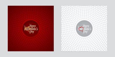 Circular Heart Shapes Patterned Valentines Day Backgrounds Set vector