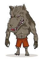 ilustración de dibujos animados de hombre lobo