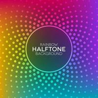 Rainbow gradient background with halftone texture vector