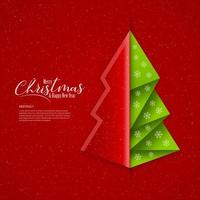 Christmas and New Year Banner with Abstract Tree