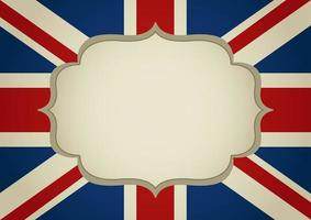 United Kingdom banner with blank frame vector