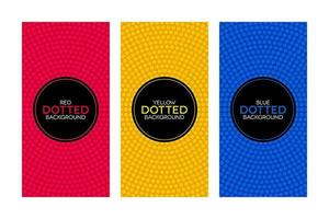 Colorful banners with circular dotted textures set vector