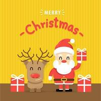 Merry chistmas and happy new year greeting card vector