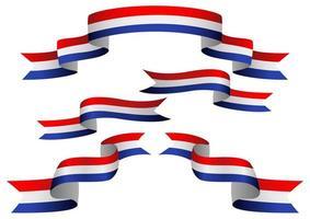 Netherlands flag ribbon set vector