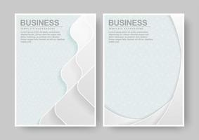 Elegant abstract book cover set