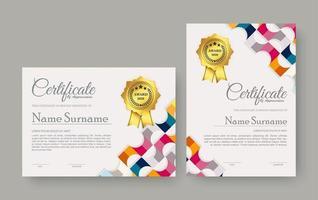 Appreciation certificate best award diploma set vector