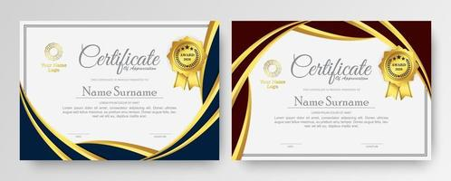 Membership certificate best award diploma set vector