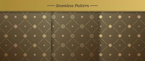 Premium pattern vector background set