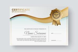 Professional certificate template diploma award design vector