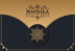 Dark gold color mandala background concept