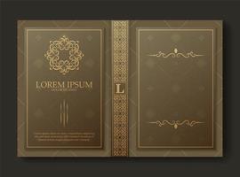 Premium ornamental book cover design vector