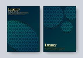 Cover of elegant pattern motif background set vector