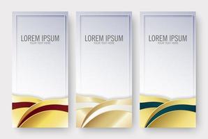 Banner vertical de negocios de lujo en diseño de onda.