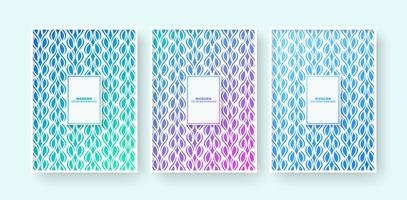 Minimal modern cover design with Abstract geometric lines set vector