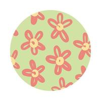 flowers organic pattern block style