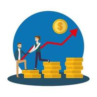 diseño de avatar de empresario y empresaria vector