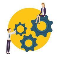 Businessman and businesswoman avatar design vector