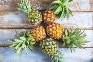 Bunch of pineapples photo