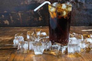 Iced cola on a table