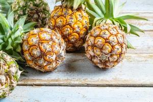 Close-up of pineapple photo