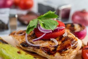 Chicken steak with assorted vegetables