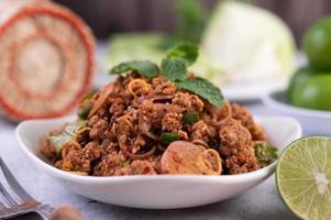 Gourmet spicy minced pork
