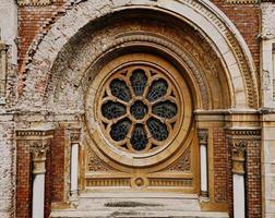 Round mandala window photo