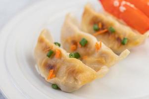 Traditional gyoza dumplings