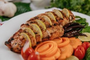 Sliced grilled gourmet chicken