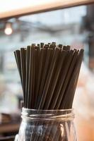 Jar of straws