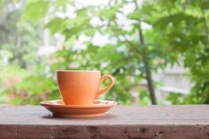 Orange latte cup