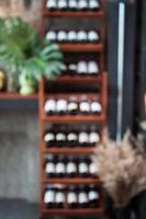 Blurred shelf background