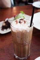 Irish coffee on a table