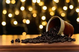 Coffee beans on the desk
