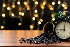 taza de café en el escritorio foto