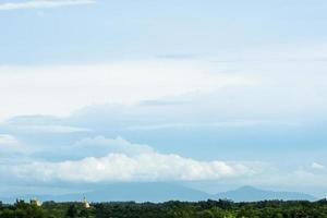 el cielo y las nubes