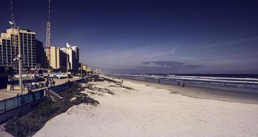 Daytona, Beach, Florida, Winter, 2016 - People on a beach photo