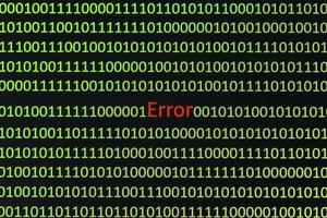 código de error en el monitor