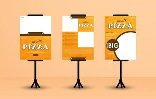 conjunto de banner permanente para empresas alimentarias vector