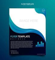 Flyer template for business modern design vector