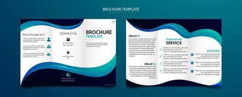 Plantilla de folleto tríptico para diseño moderno empresarial vector