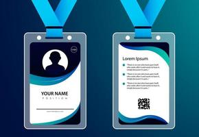 Id card for business modern design vector