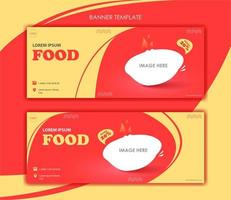 Set of banners for food business vector